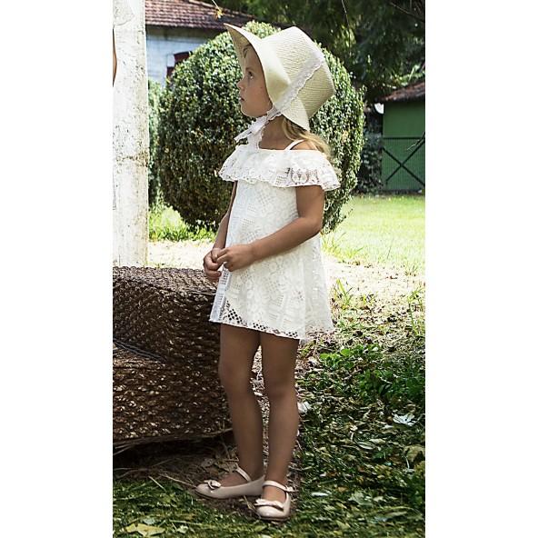 M&B 8813 Φόρεμα δαντέλα bebe