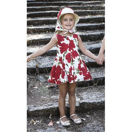 M&B 8818 Φόρεμα floral παιδικό