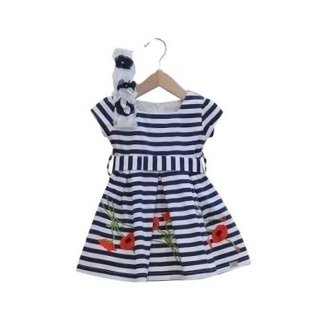 Ebita 186508 Φόρεμα με κορδέλα