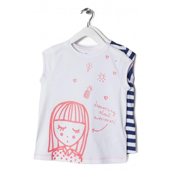 Zippy ZG0243026 Σετ 2 μπλούζες κορίτσι