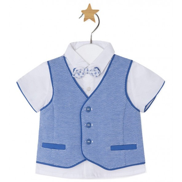 Mayoral 28-01110-038 Σετ μπλούζα,γιλέκο και παπιγιον 1110