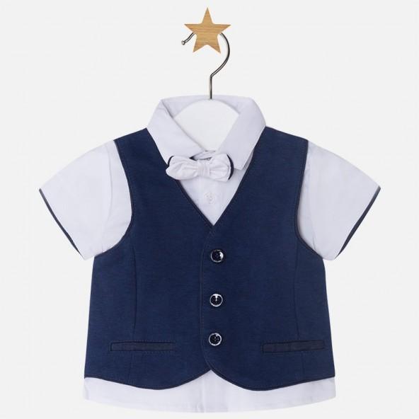 Mayoral 28-01110-039 Σετ μπλούζα γιλέκο παπιγιόν 1110