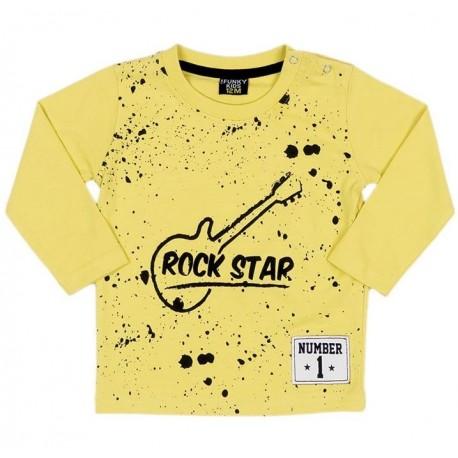 Funky 219-806102 Μπλούζα μακρυμάνικη Κίτρινο