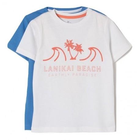 4735e320e5af Zippy ZB0304-455-14 Σετ 2 μπλουζάκια αγόρι λευκό