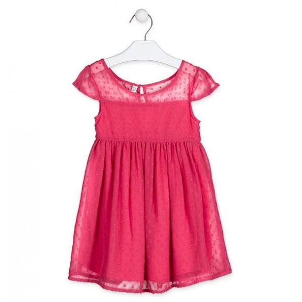 Losan 916-7795AA Φόρεμα παιδικό κοραλί