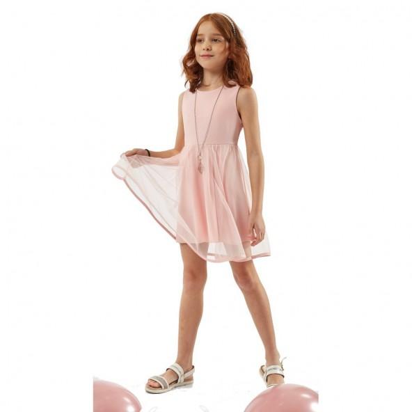 Ebita 198069 Φόρεμα αμάνικο Ροζ