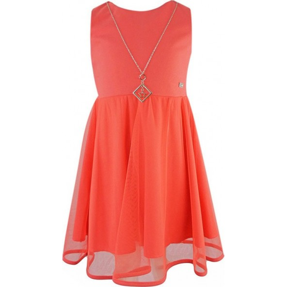 Ebita 198069 Φόρεμα αμάνικο Κοραλί