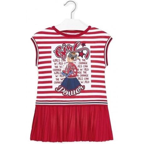 Mayoral 29-03949-090 Φόρεμα πλισέ συνδυασμένο κορίτσι 3949