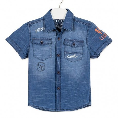 Losan 915-3003AA Τζιν πουκάμισο κοντομάνικο