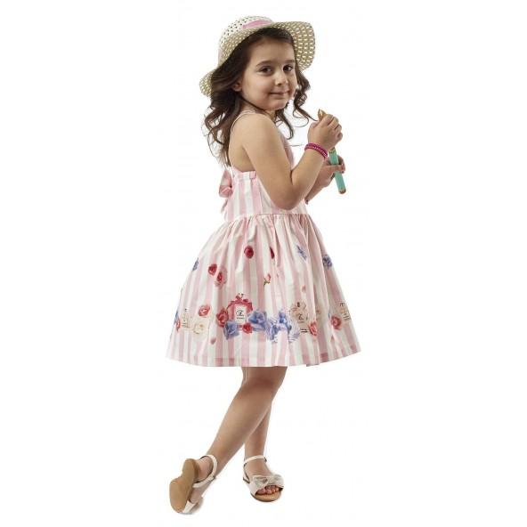 Ebita 198246 Φόρεμα παιδικό με καπέλο