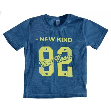 New Kind 9801S19 Μπλουζάκι κοντομάνικο μπλε