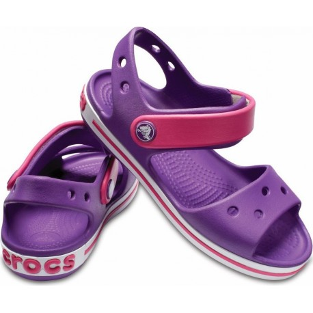 Crocs Crocband Sandal 12856-54O Amethyst/Paradise Pink Παιδικά Πέδιλα