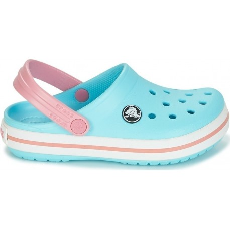CROCS CROCBAND CLOG K ICE BLUE/WHITE 204537-4S3 Παιδικά σαμπό