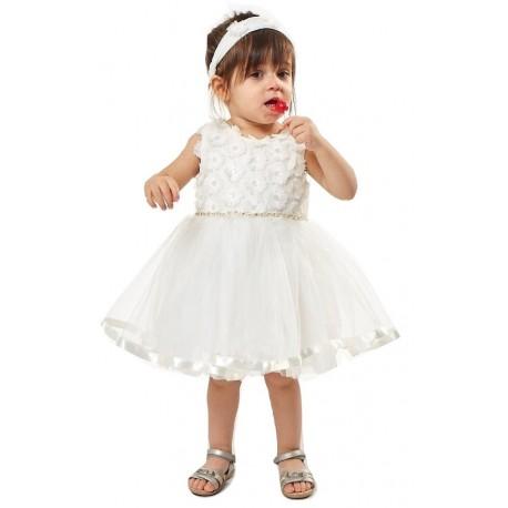 Εβιτα 202527 Φόρεμα Λευκό