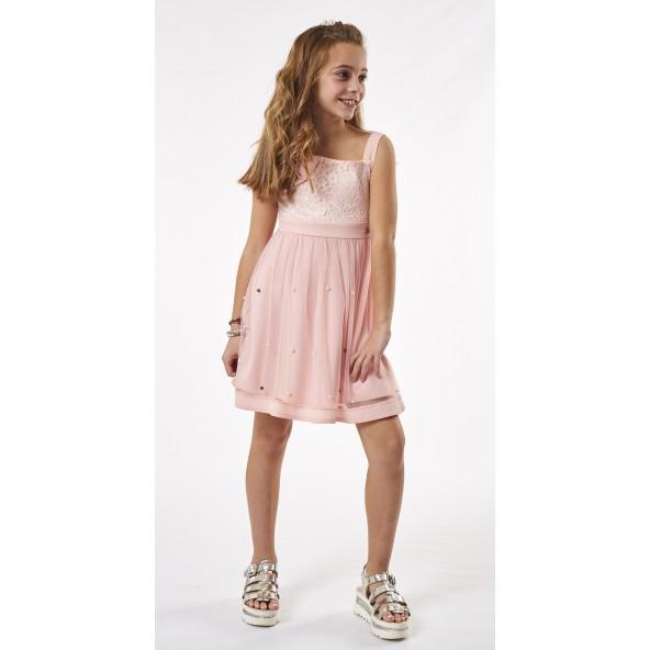 Ebita 202007 Φόρεμα ροζ