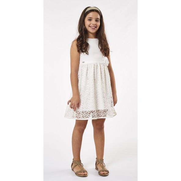 Ebita 202008 Φόρεμα αμάνικο λευκό