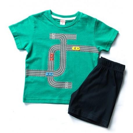 Joyce 201273 Σετ με σορτς πράσινο