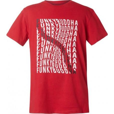 Funky Buddha FBB00131404 Μπλούζα Κόκκινη