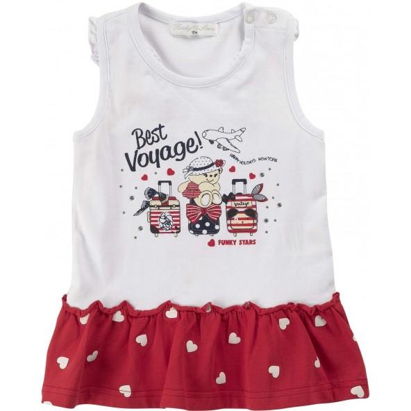 For Funky Kids 120-928103-1 Φόρεμα Λευκό