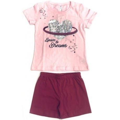 Dreams 201909 Πυτζάμες Ροζ
