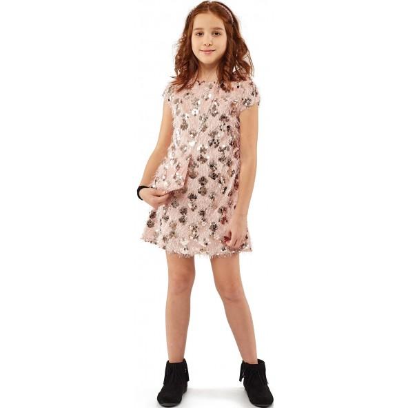 Εβίτα 203031 Φόρεμα με Τσάντα Ροζ