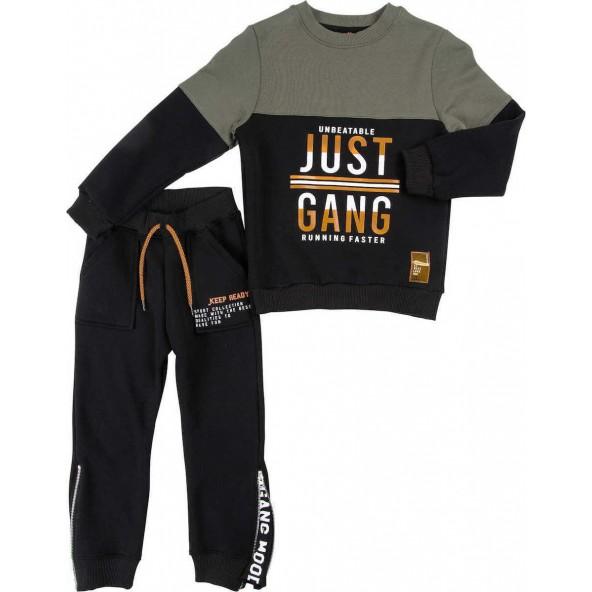 Gang 220602 Σετ Φόρμα Μαύρο