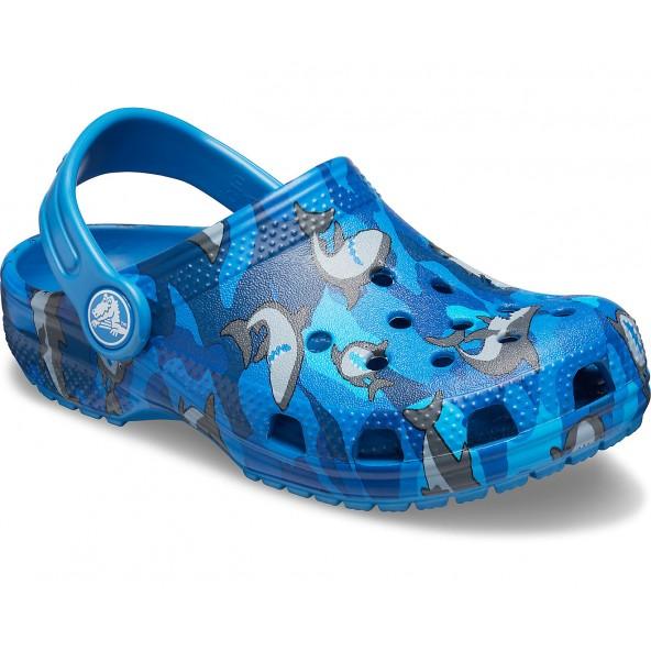 Crocs 206147-4KI Classic Shark Clog