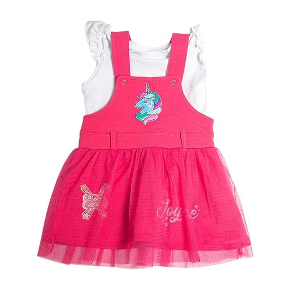 Joyce 211163 Σετ Σαλοπέτα - Φόρεμα Φουξ