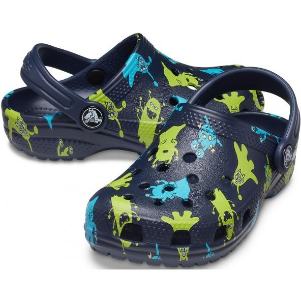 Crocs 206833-410 Classic Monster Print Clog