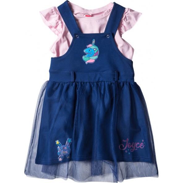 Joyce 211163 Σετ Σαλοπέτα - Φόρεμα Μπλε Navy