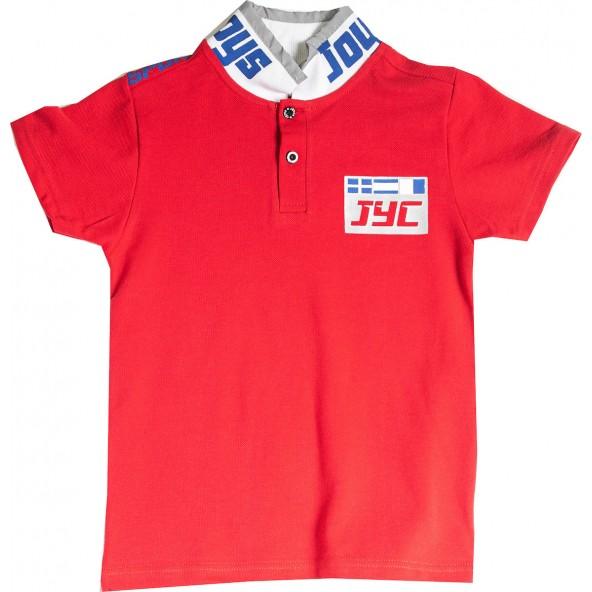 Joyce 211770 Μπλούζα Πόλο Κόκκινο
