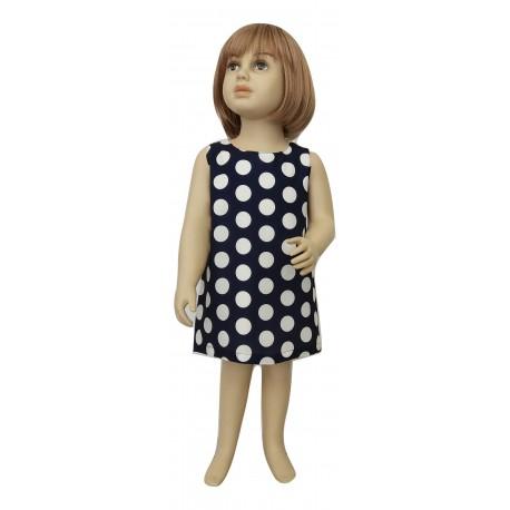 M&B 8120 Φόρεμα πουά βρεφικό