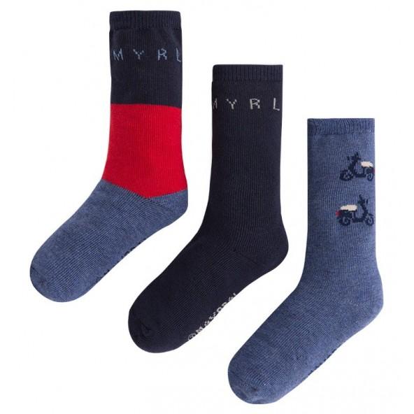 Mayoral 10250 Σετ 3 ζευγάρια κάλτσες