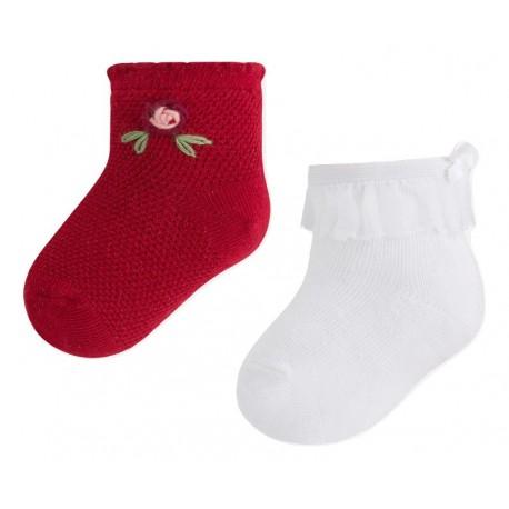 Mayoral 9602 Σετ 2 τμχ βρεφικές κάλτσες